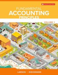 Fundamental Accounting Principles Volume 1, 16th Canadian Edition [Kermit Larson]