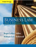 Cengage Advantage Books: Business Law: Text and Exercises 9781285415253R120