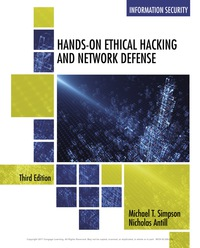 Hands-On Ethical Hacking and Network Defense, 3rd Edition, Book Only