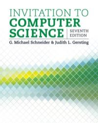 Invitation To Computer Science 7th Edition 9781305075771 Vitalsource