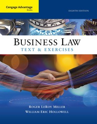 Business law textbooks in etextbook format vitalsource cengage advantage books business law text and exercises by roger leroy miller edition 8th fandeluxe Choice Image