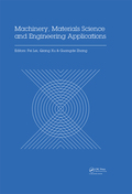 Machinery, Materials Science and Engineering Applications 9781315349459R90