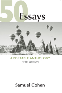 50 essays a portable anthology 5th edition 9781319043728