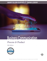 Business communication process product 9th edition business communication process product by mary ellen guffey fandeluxe Image collections