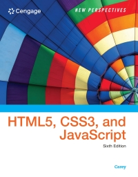 Book cover New Perspectives on HTML5, CSS3, and JavaScript