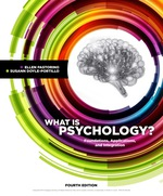"""""""What is Psychology?: Foundations, Applications, and Integration"""" (9781337672399)"""