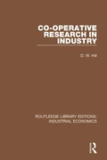 Co-operative Research in Industry 9781351332132R90