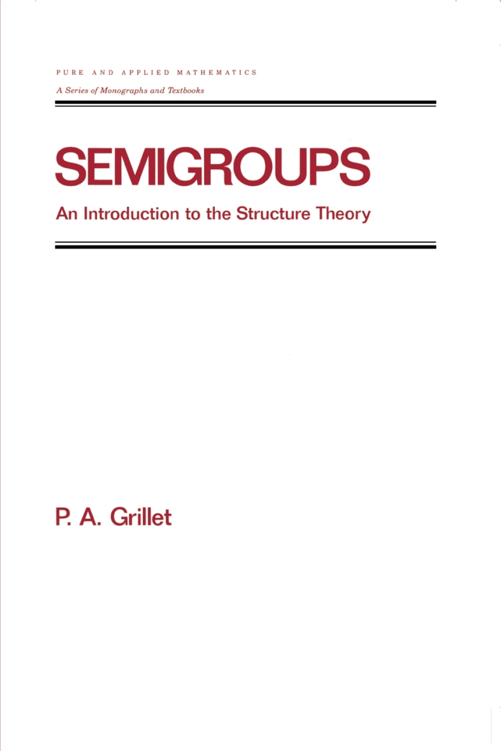 Semigroups (eBook Rental)