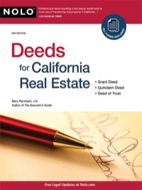 Deeds for California Real Estate              by             Randolph, Mary, J.D.