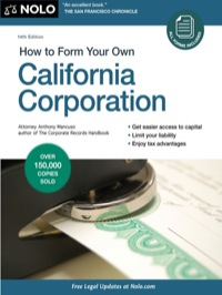 How to Form Your Own California Corporation              by             Mancuso, Anthony