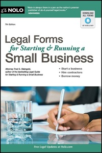 Legal Forms for Starting & Running a Small Business              by             Steingold, Fred S., Attorney