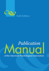 publication manual of the american psychological association apa