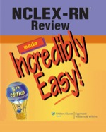 """NCLEX-RN Review Made Incredibly Easy!"" (9781451107029)"