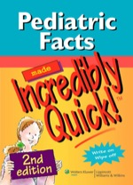 """Pediatric Facts Made Incredibly Quick!"" (9781451107517)"