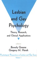 Lesbian and Gay Psychology 9781452254630