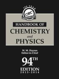 Crc Handbook Of Chemistry And Physics Ebook