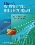 """""""Munro's Statistical Methods for Health Care Research"""" (9781469820552)"""