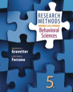 Research Methods for the Behavioral Sciences EBOOK 9781473732308)