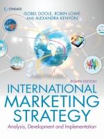 """International Marketing Strategy: Analysis, Development & Implementation"" (9781473758780)"