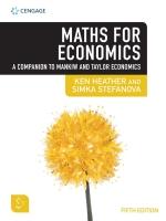 """""""3I eBook: Maths for Economics 5e"""" (9781473768659)"""