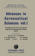 Advances in Aeronautical Sciences 9781483223353