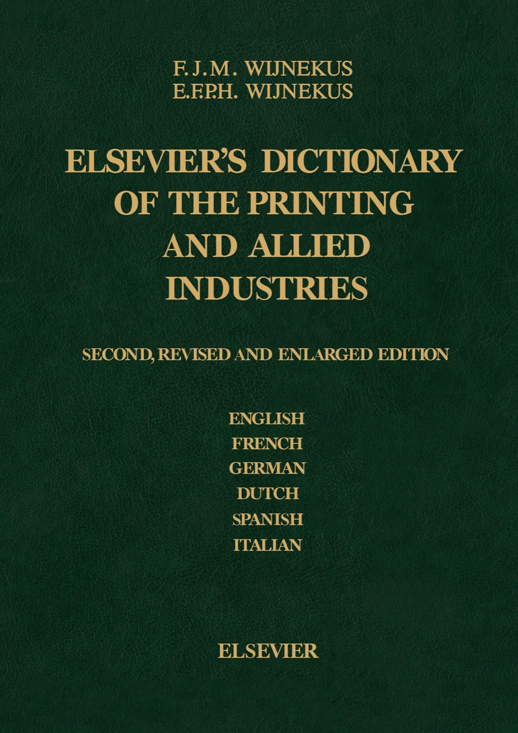 Dictionary of the Printing and Allied Industries (eBook)