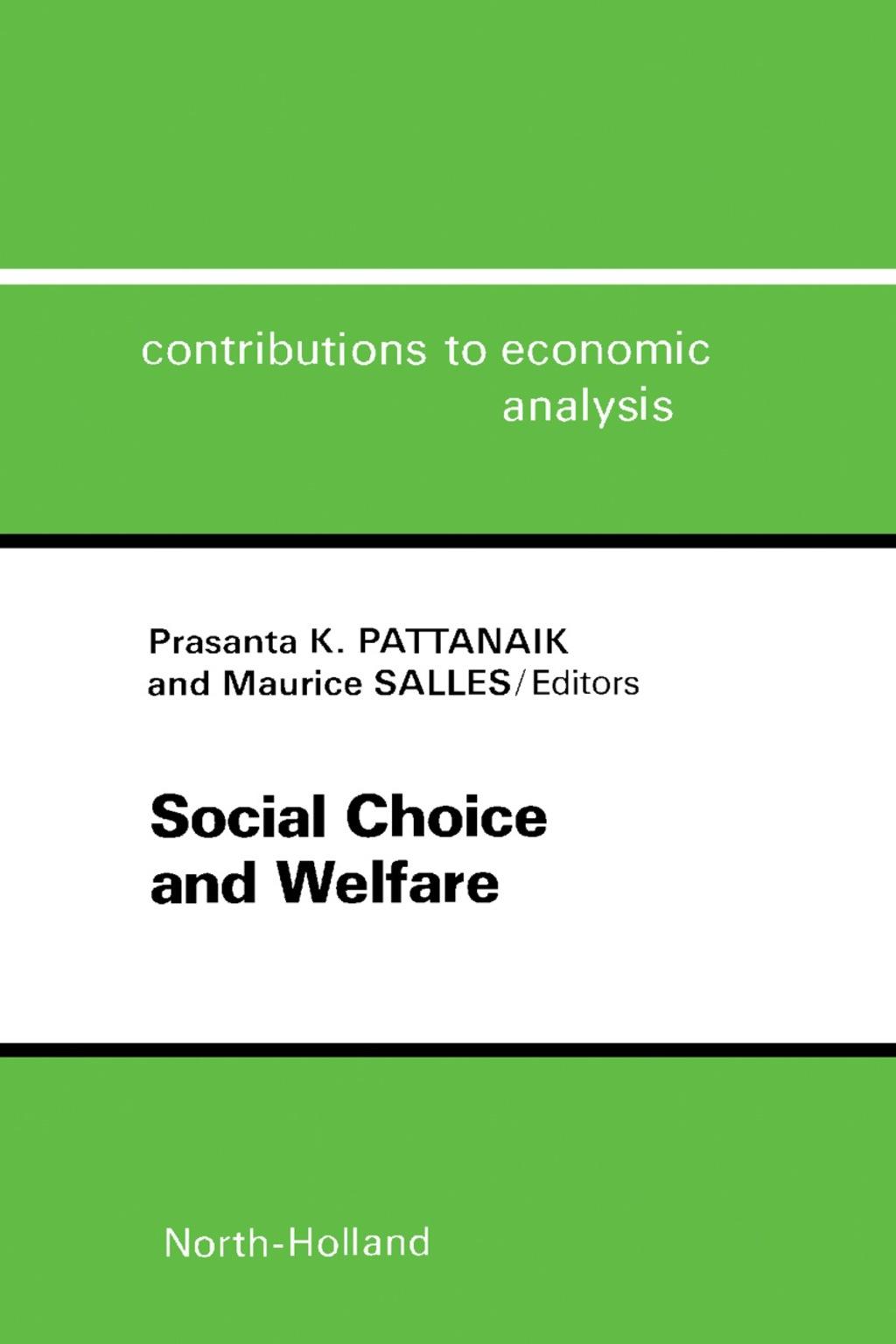 Social Choice and Welfare (eBook)