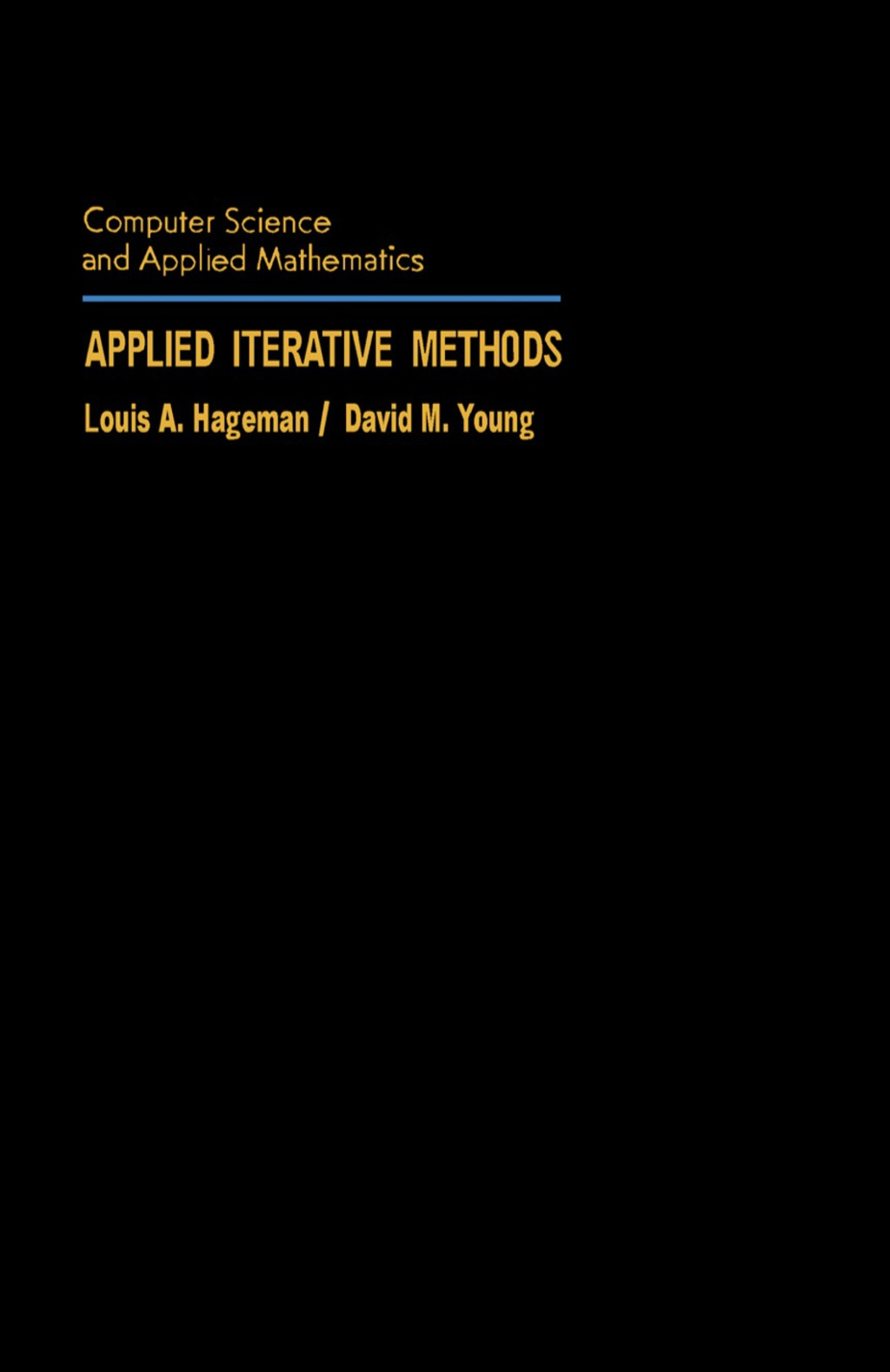 Applied Iterative Methods (eBook)