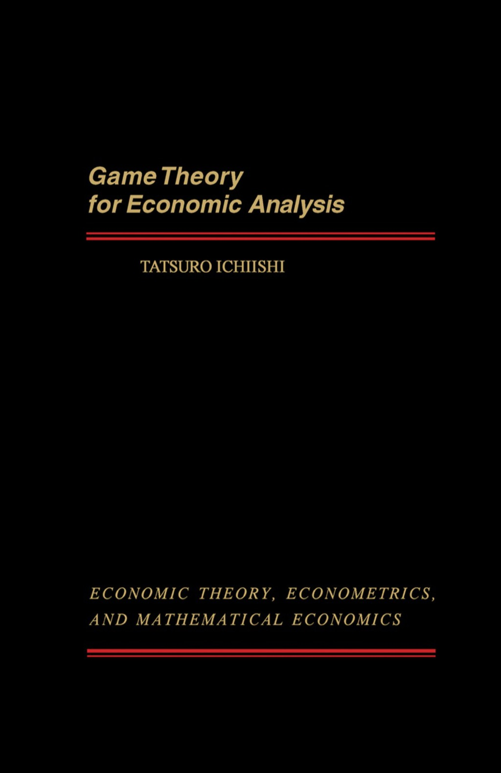 Game Theory for Economic Analysis (eBook)