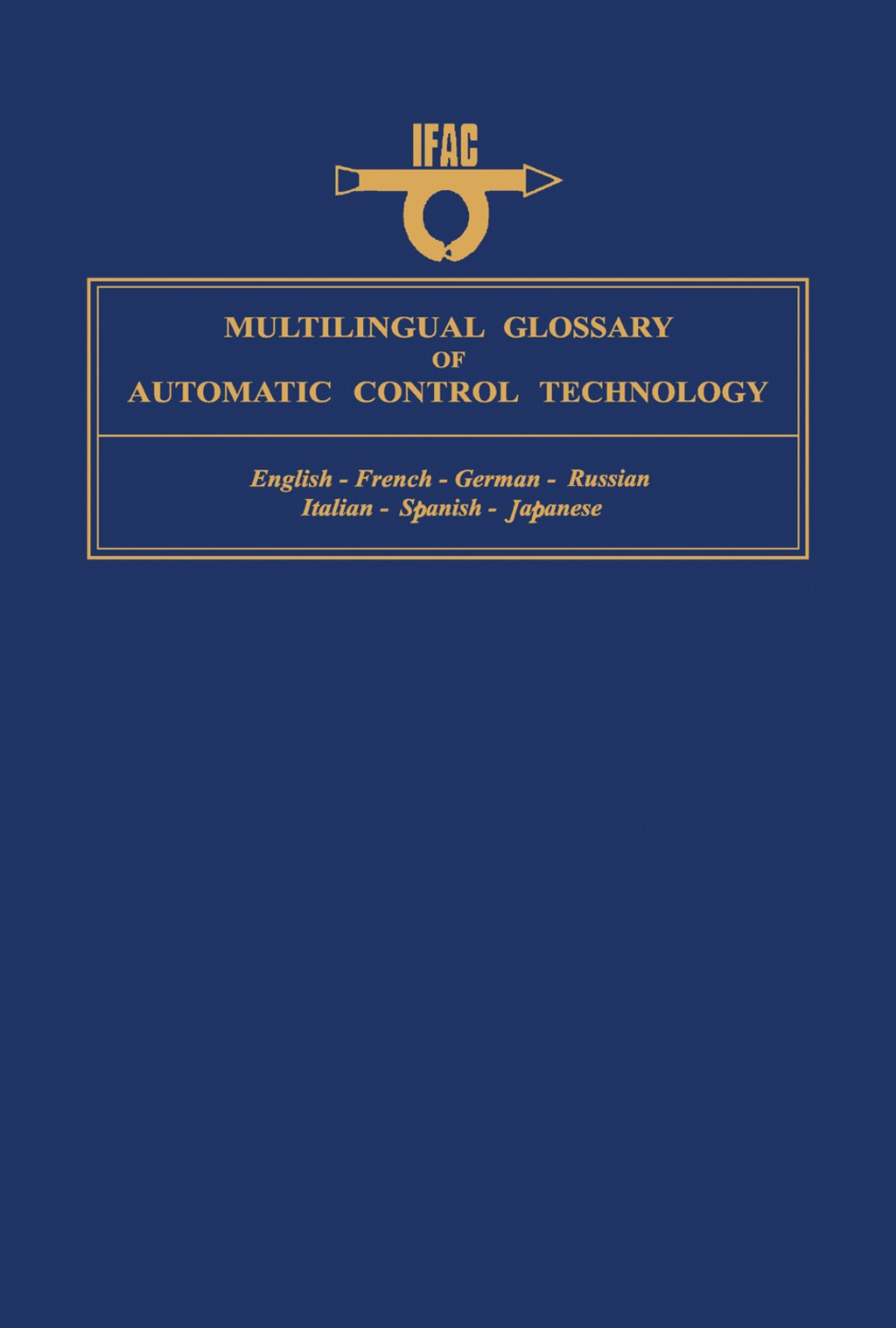 Multilingual Glossary of Automatic Control Technology (eBook)