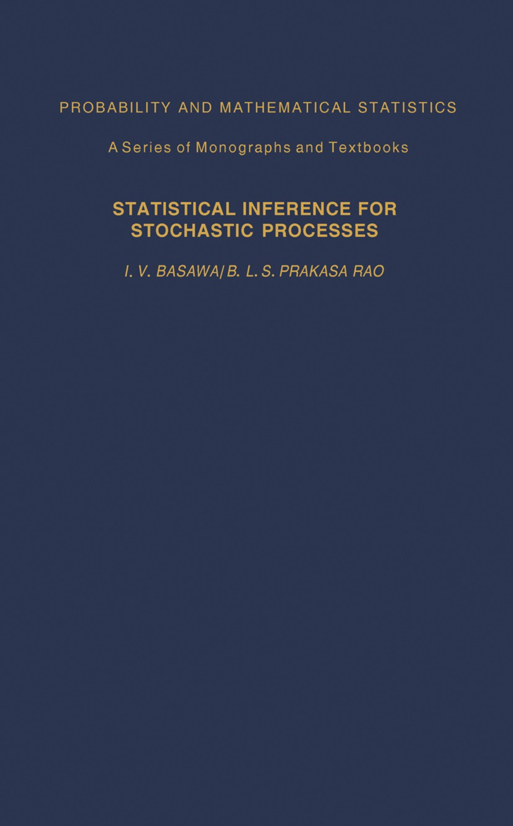 Statistical Inferences for Stochasic Processes (eBook)