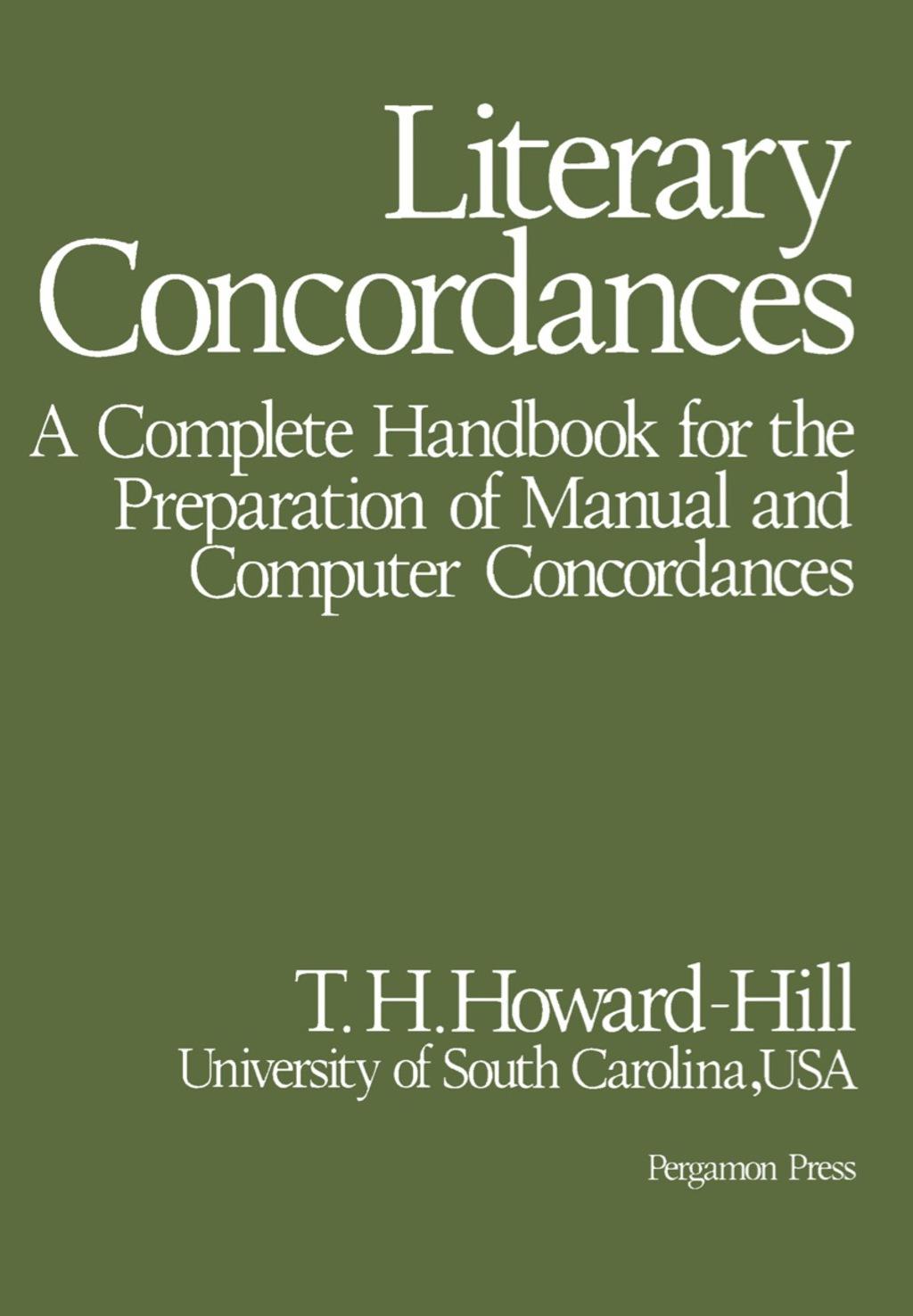 Literary Concordances (eBook)