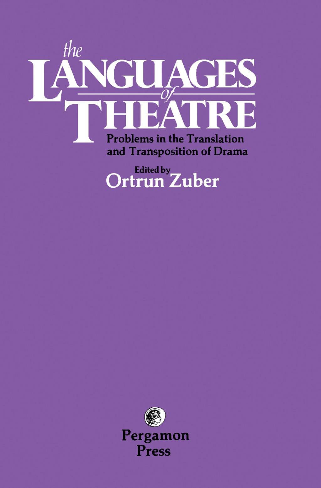 The Languages of Theatre (eBook)