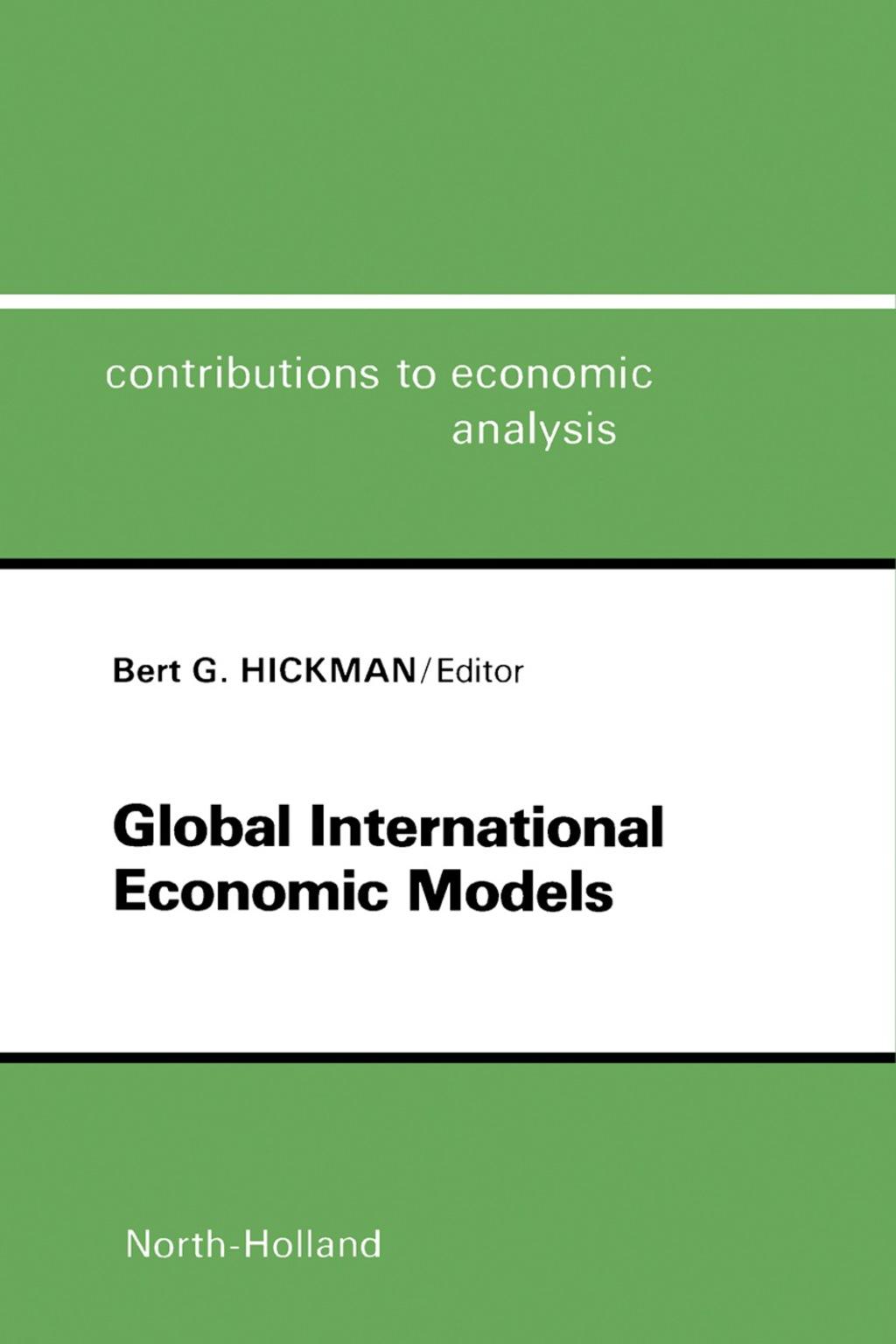 Global International Economic Models (eBook)
