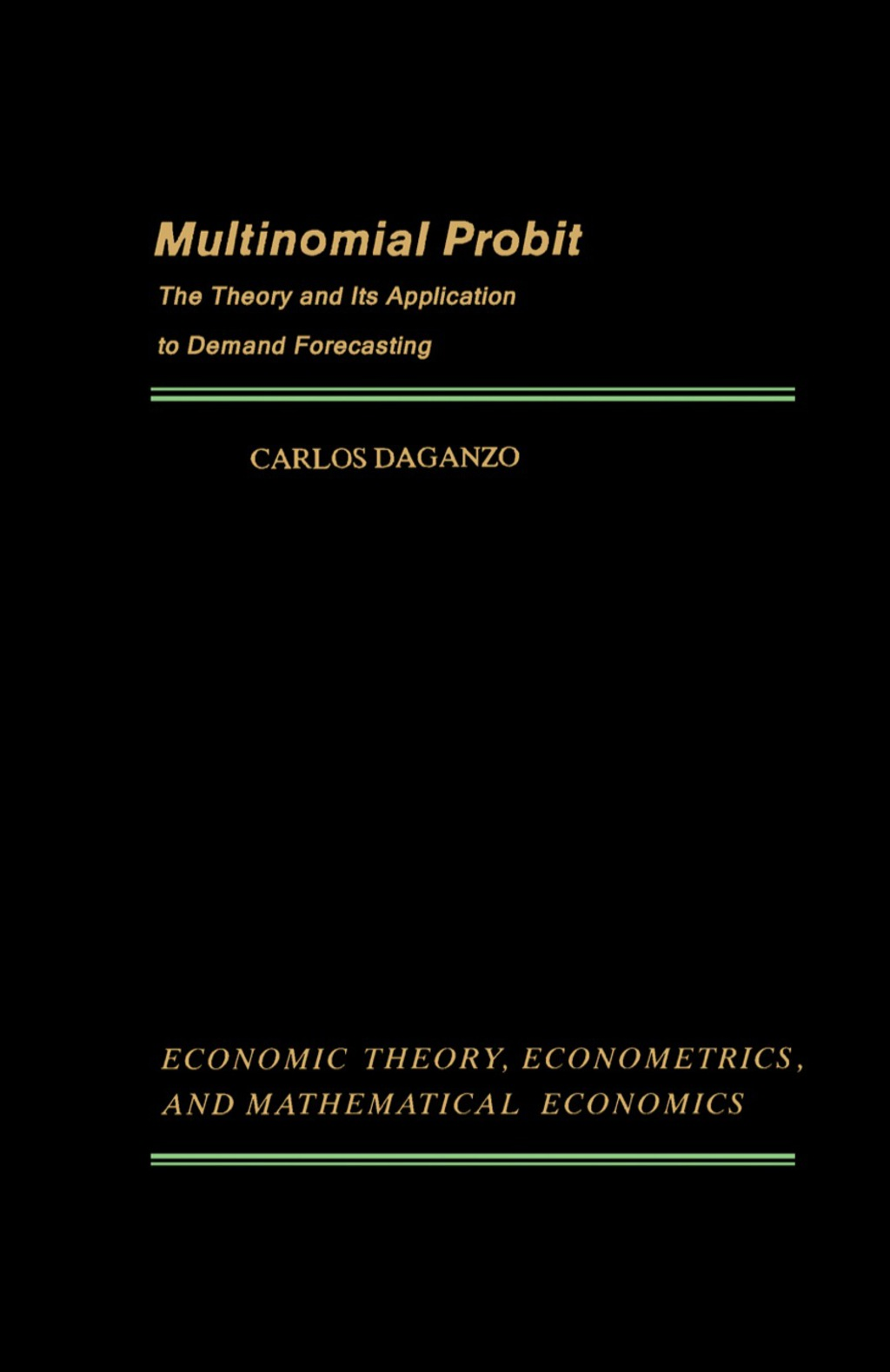 Multinomial Probit (eBook)