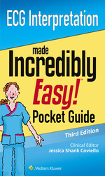 """ECG Interpretation: An Incredibly Easy Pocket Guide"" (9781496377111)"