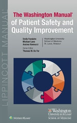 """""""Washington Manual of Patient Safety and Quality Improvement"""" (9781496384904)"""