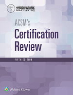 """""""ACSM's Certification Review"""" (9781496388490)"""