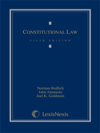 Constitutional Law              by             Redlich, Norman