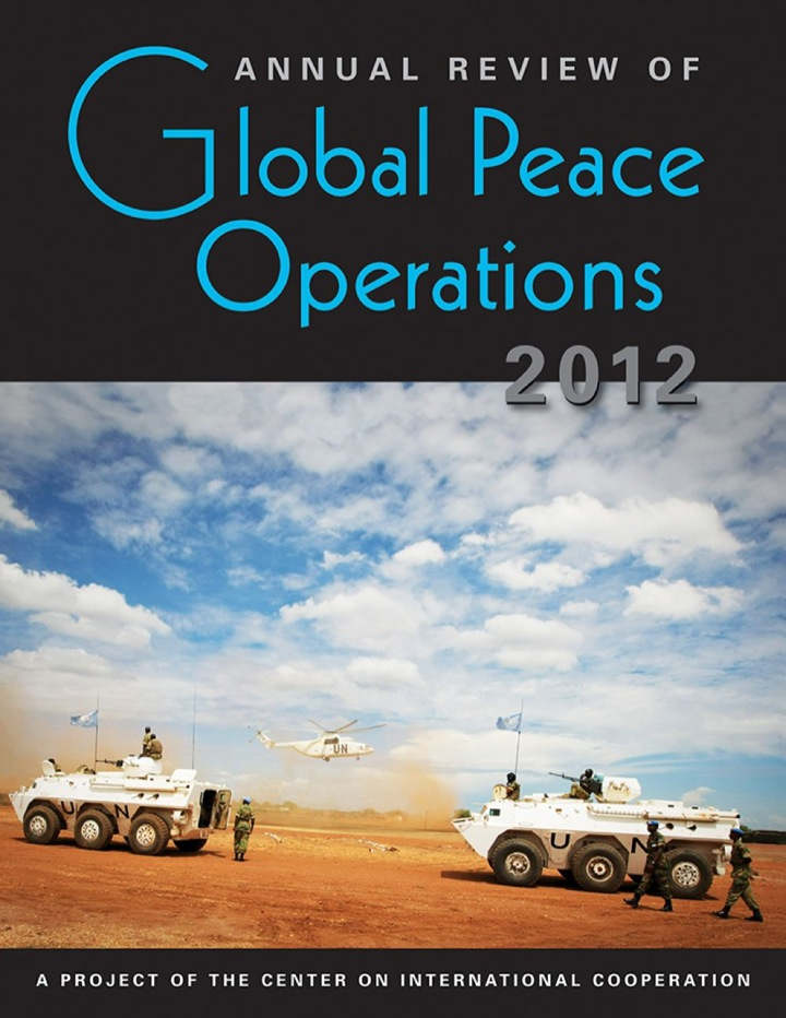 Annual Review of Global Peace Operations, 2012