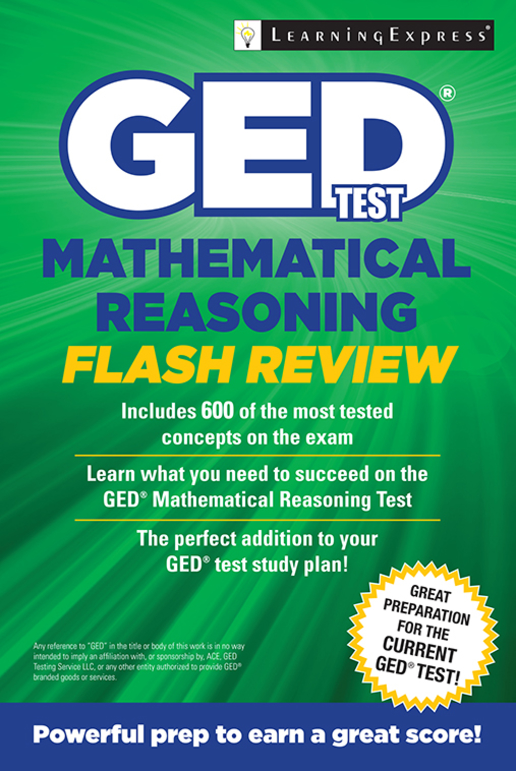 GED Test Mathematics Flash Review (eBook)