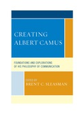 Creating Albert Camus 9781611478884