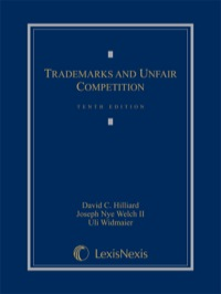 Trademarks and Unfair Competition              by             Hilliard, David C.