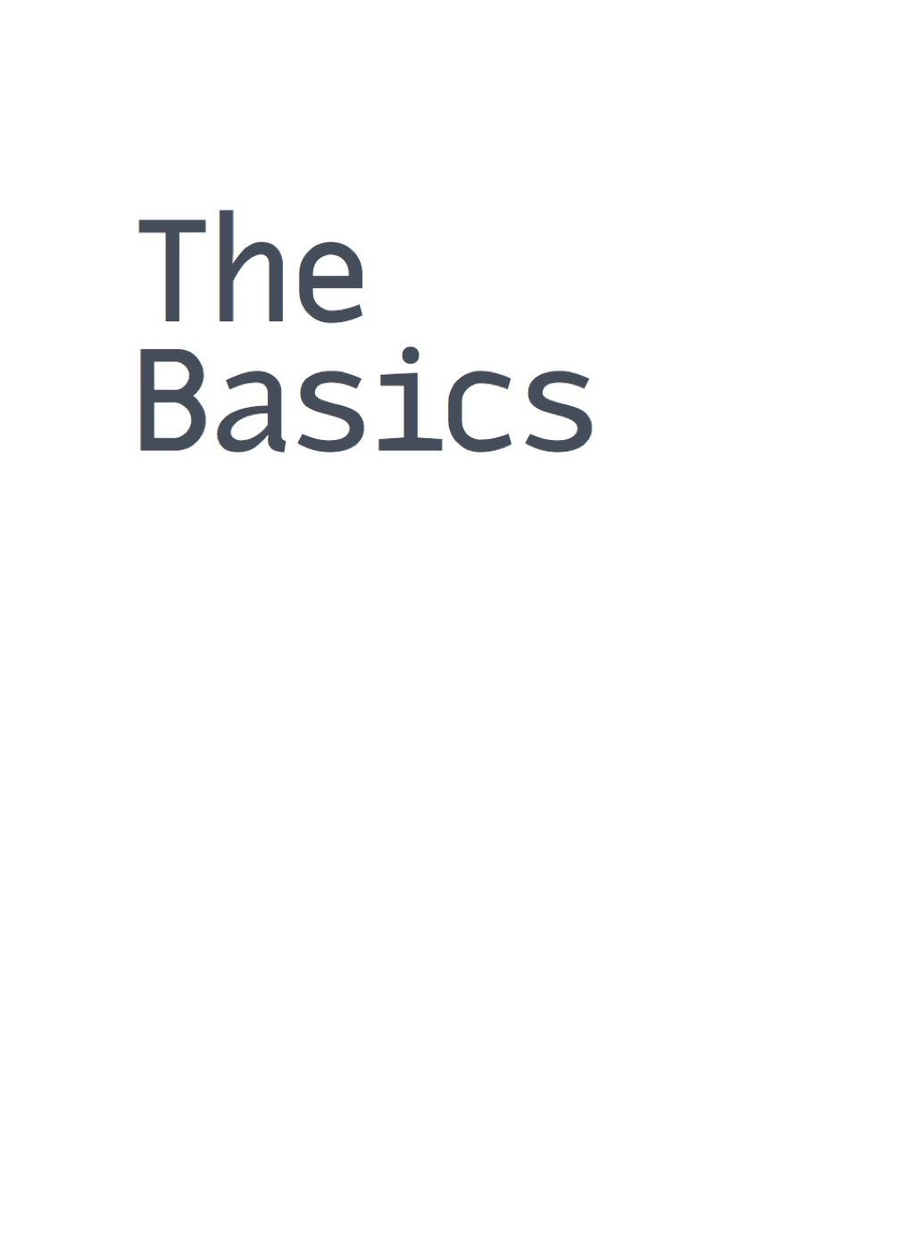 The Basics (eBook)