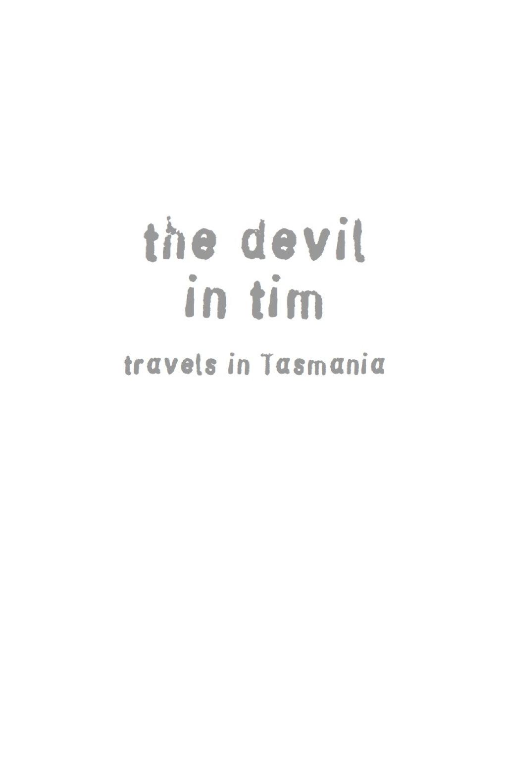 The Devil in Tim (eBook)