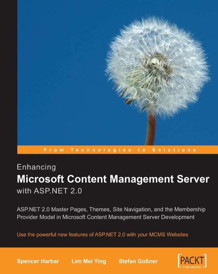Enhancing Microsoft Content Management Server with ASP.NET 2.0