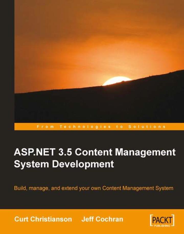 ASP.NET 3.5 Content Management System Development