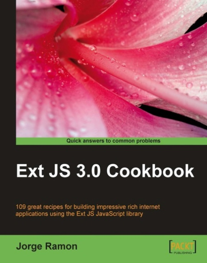Ext JS 3.0 Cookbook
