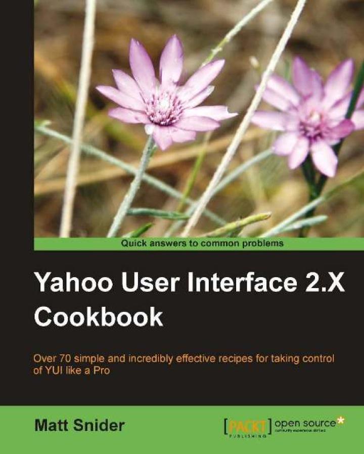 Yahoo! User Interface 2.x Cookbook