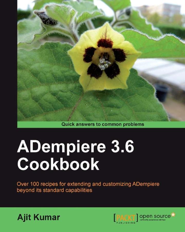 ADempiere 3.6 Cookbook